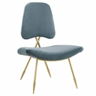 Modway Ponder Upholstered Velvet Lounge Chair in Sea Blue MY-EEI-2809-SEA