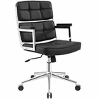 Modway Portray Highback Faux Leather Office Chair in Black MY-EEI-2685-BLK