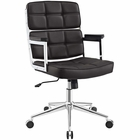 Modway Portray Highback Faux Leather Office Chair in Brown MY-EEI-2685-BRN