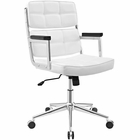 Modway Portray Highback Faux Leather Office Chair in White MY-EEI-2685-WHI