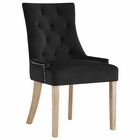 Modway Pose Velvet Dining Chair in Black MY-EEI-2577-BLK