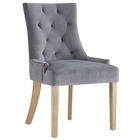 Modway Pose Velvet Dining Chair in Gray MY-EEI-2577-GRY