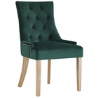 Modway Pose Velvet Dining Chair in Green MY-EEI-2577-GRN