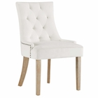 Modway Pose Velvet Dining Chair in Ivory MY-EEI-2577-IVO