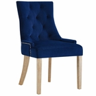 Modway Pose Velvet Dining Chair in Navy MY-EEI-2577-NAV