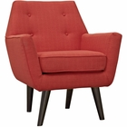 Modway Posit Upholstered Fabric Armchair in Atomic Red MY-EEI-2136-ATO