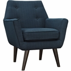 Modway Posit Upholstered Fabric Armchair in Azure MY-EEI-2136-AZU