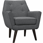 Modway Posit Upholstered Fabric Armchair in Gray MY-EEI-2136-GRY