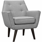 Modway Posit Upholstered Fabric Armchair in Light Gray MY-EEI-2136-LGR