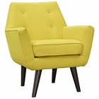Modway Posit Upholstered Fabric Armchair in Sunny MY-EEI-2136-SUN