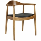 Modway Presidential Dining Wood Armchair in Black MY-EEI-649-BLK