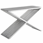 Modway Press Stainless Steel Console Table in Silver MY-EEI-2095-SLV