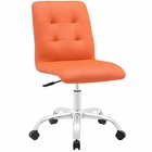 Modway Prim Armless Mid Back Faux Leather Office Chair in Orange MY-EEI-1533-ORA