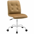 Modway Prim Armless Mid Back Faux Leather Office Chair in Tan MY-EEI-1533-TAN