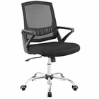 Modway Proceed Mid Back Mesh Office Chair in Black MY-EEI-2684-BLK