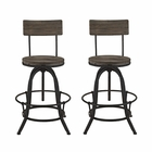 Modway Procure Bar Stool Pine Wood and Iron Set of 2 in Brown MY-EEI-1605-BRN-SET
