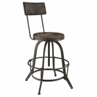 Modway Procure Pine Wood and Iron Bar Stool in Black MY-EEI-1212-BLK