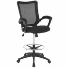 Modway Project Mesh Drafting Chair in Black MY-EEI-2287-BLK