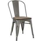 Modway Promenade Bamboo Steel Dining Side Chair in GunMetal MY-EEI-2028-GME