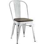 Modway Promenade Bamboo Steel Dining Side Chair in White MY-EEI-2028-WHI