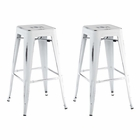 Modway Promenade Bar Stool Set of 2 in White MY-EEI-2757-WHI-SET