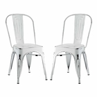 Modway Promenade Dining Side Chairs Steel Set of 2 in White MY-EEI-2749-WHI-SET