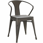 Modway Promenade Steel Dining Chair in Brown MY-EEI-2029-BRN