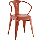 Modway Promenade Steel Dining Chair in Red MY-EEI-2029-RED