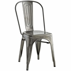 Modway Promenade Steel Dining Side Chair in Gunmetal MY-EEI-2027-GME