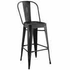 Modway Promenade Steel Metal Bar Stool in Black MY-EEI-2813-BLK