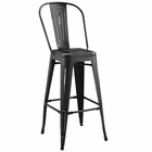 Modway Promenade Steel Metal Bar Stool in Black MY-EEI-2815-BLK