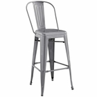 Modway Promenade Steel Metal Bar Stool in Gunmetal MY-EEI-2813-GME