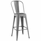 Modway Promenade Steel Metal Bar Stool in Gunmetal MY-EEI-2815-GME