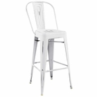 Modway Promenade Steel Metal Bar Stool in White MY-EEI-2813-WHI
