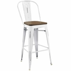 Modway Promenade Steel Metal Bar Stool in White MY-EEI-2814-WHI