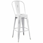 Modway Promenade Steel Metal Bar Stool in White MY-EEI-2815-WHI