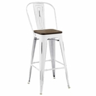 Modway Promenade Steel Metal Bar Stool in White MY-EEI-2816-WHI