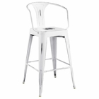 Modway Promenade Steel Metal Bar Stool in White MY-EEI-2817-WHI
