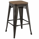 Modway Promenade Steel Metal Counter Stool in Brown MY-EEI-2820-BRN