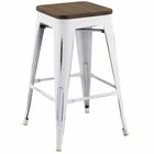 Modway Promenade Steel Metal Counter Stool in White MY-EEI-2820-WHI