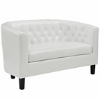 Modway Prospect Faux Leather Loveseat in White MY-EEI-1043-WHI