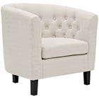 Modway Prospect Upholstered Fabric Armchair in Beige MY-EEI-2551-BEI