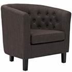 Modway Prospect Upholstered Fabric Armchair in Brown MY-EEI-2551-BRN