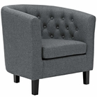 Modway Prospect Upholstered Fabric Armchair in Gray MY-EEI-2551-GRY