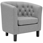 Modway Prospect Upholstered Fabric Armchair in Light Gray MY-EEI-2551-LGR