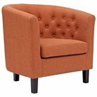 Modway Prospect Upholstered Fabric Armchair in Orange MY-EEI-2551-ORA