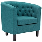 Modway Prospect Upholstered Fabric Armchair in Teal MY-EEI-2551-TEA