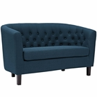 Modway Prospect Upholstered Fabric Loveseat in Azure MY-EEI-2614-AZU