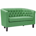 Modway Prospect Upholstered Fabric Loveseat in Kelly Green MY-EEI-2614-GRN