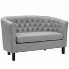 Modway Prospect Upholstered Fabric Loveseat in Light Gray MY-EEI-2614-LGR